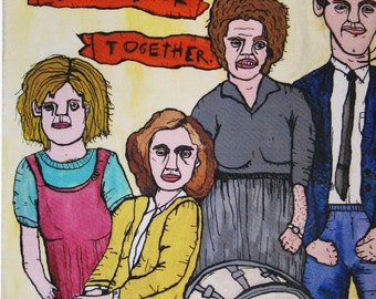 We're Getting the Band Back Together Postcard