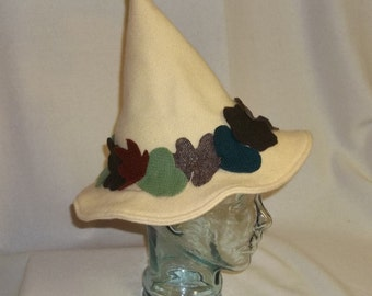 Yellow Wool Hedge Witch Hat