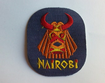 Nairobi Kenya Ancient City Authentic Collectible 1970's Vintage Sewing Patch Applique