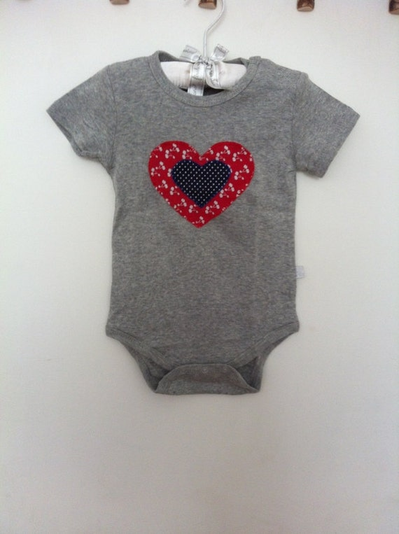 Baby Girl Clothes Size 12 18 months Hearts Bodysuit