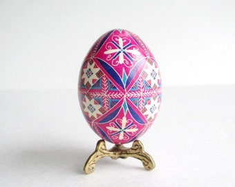 Fancy Easter Egg Pysanka batik decorated chicken egg shells ~ orthodox Christmas gifts ~ traditional Easter decorations ~ colored batik eggs