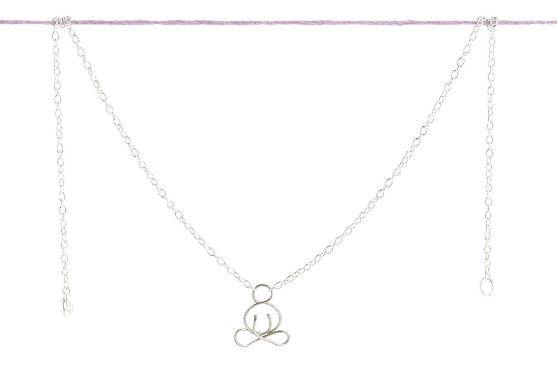 On Sale - 10% Off -Meditation Necklace - Buddha Silver Pendant