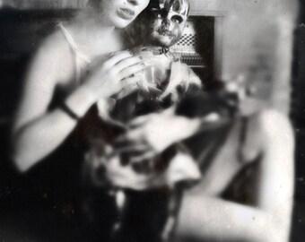 Black and White Gothic Photograph, large 13x19 Noir lady portrait photo print 8x11