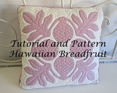 "Hawaiian Quilt Block ""Ulu"" Breadfruit Pattern and Tutorial PDF, Instant Download, Step by Step Instructions, Hawaiian Quilting Design, DIY"