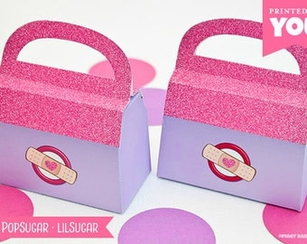 Doctor Bag Favor Box - SMALL : DIY Printable Doc McStuffins Inspired PDF - Instant Download