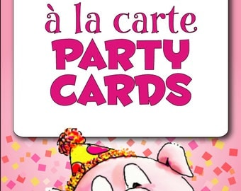 à la Carte PARTY CARD - DIY Printable Placecard and Food Labels // Print at Home // Coordinate with Existing Collection