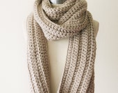 Chunky Scarf in Linen