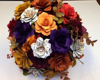 Fall Wedding/ Bridesmaid Bouquet  6 to 7 inch around
