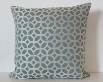 Candice Olson blue silver geometric - 20x20 designer throw pillow cover