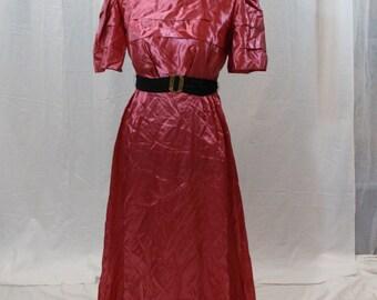SALE ITEM Vintage 70s Silky Dress Pink Dress