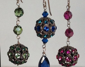 Filigree ball earrings