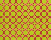 Metro Living Ring Dots in Lime - Robert Kaufman Fabrics