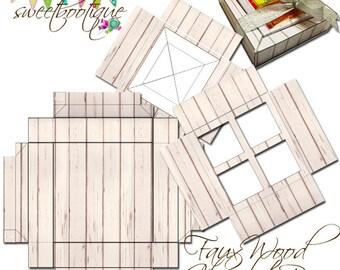 Tea Bag Gift Box / Chocolate Box - DIY - Printable - Digital Download - INSTANT DOWNLOAD