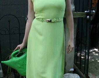 Vintage 90s Dress // Victoria Secret Dress in Key Lime Green