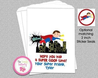 Superhero Party Favor Bag , Candy Buffet , Party Favor Bags, Goody Bags, Favor Bags