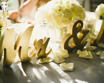 Mr and Mrs Wedding Signs for Sweetheart Table Decor Wooden Letters, Large Thick Wood Mr & Mrs Sign Set (Item - MTS100)