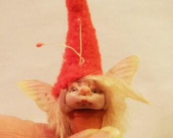 Ooak Miniature little magic fairy sculpt handmade