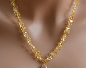 LP 1166   Citrine Faceted Chip and Gorgeous Citrine Focal Necklace
