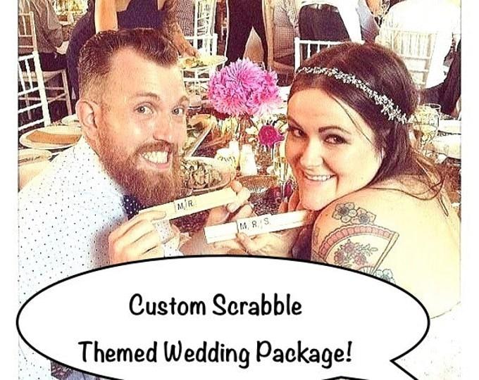 100 custom scrabble tile signs, scrabble, game night, scrabble wedding
