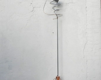 Atomic Sculptural Copper Aluminum Artisan Floor Lamp