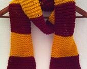 Toddler Size Harry Potter Gryffindor Scarf