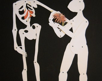 Death and the Rabbit Paper Doll (Made to Order)