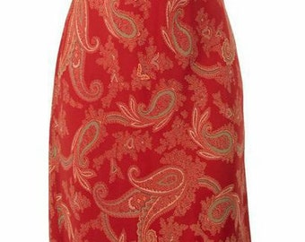 Cinnamon Paisley Dress