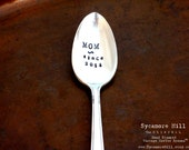 Mom Since with YEAR or DATE. CUSTOM Spoon. The Original Hand Stamped Vintage Coffee Spoons™ by Sycamore Hill. Mother's Day Gift. Tea Lover