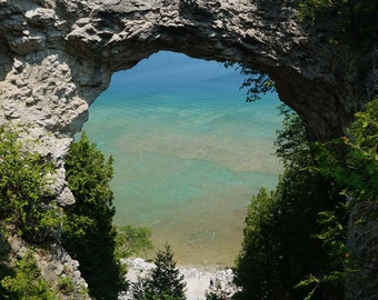 Mackinac Island Arch Photography 8x10 portrait or landscape