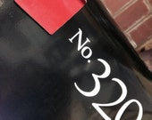One custom mailbox vinyl decal with up to 4 house numbers in your color choice.