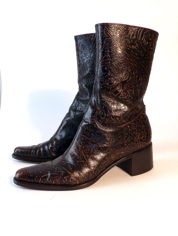 sted leather ankle boots size 9 5