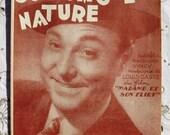 Vintage 1940's French Song / Sheet Music - Tous Les Gouts Sont Dans La Nature (It Takes All Sorts)