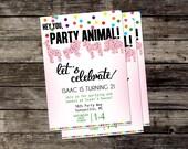 Animal Cookie Party Invite - Printable - Custom Invitation