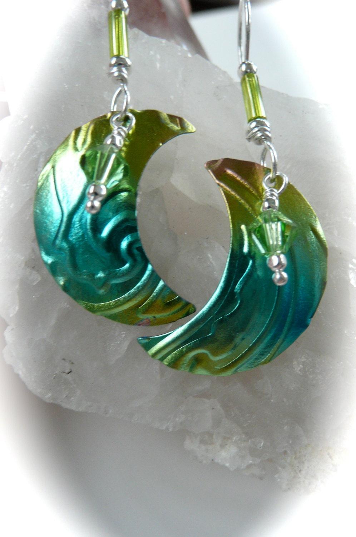 Moons moon jewelry Niobium embossed jewelry Hypoallergenic