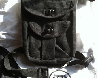 Large Utility Belt Thigh Bag Pouch /Great for Burning Man, Passports, Traveling, Sportsmen, Industrial #LG-UTP-BK