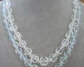 2 Vintage Austrian Cut Crystal Bead Necklaces 2 Wear or 4 Crafting