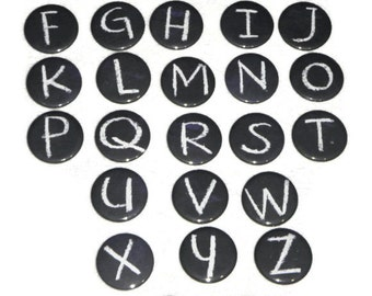 "A to Z Magnets Alphabet Letters Back to School Chalkboard Design Each 1.5""  Made To Order"