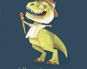 Hammond - Rex Jurassic Park Art Print
