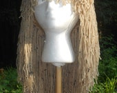 "E133   Yarn Wig  Delightful  ""Tumbleweed"" Long Shag Yarn Wig   Ready to Ship"