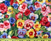 Cotton Fabric - Say It With Flowers #2662 - by Roe Gregg - Quest for a Cure - Northcott - 1 Yard