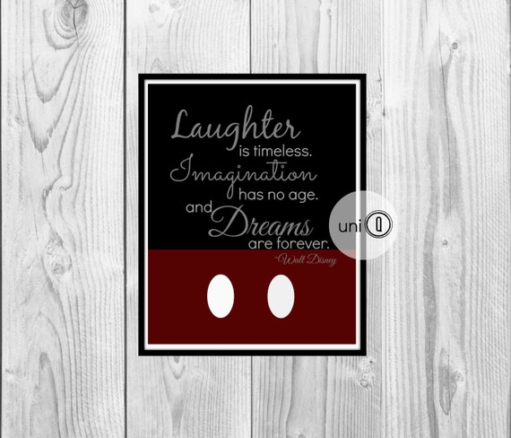 Wall Art Quotes Disney : Walt disney quote print printable wall art by