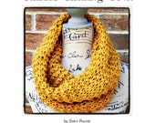 Classic Chunky Cowl Knitting Pattern Craft Party Circle Scarf, Head Wrap, Chunky Scarf DIY Christmas Gift Knitting Pattern WWKIP Day