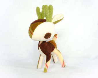 Peppermint Bark Deer Plush