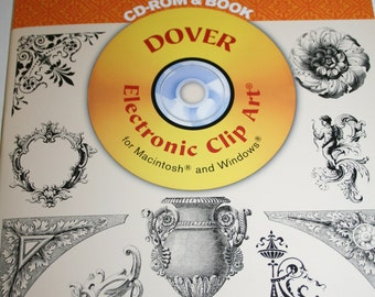 Dover Electronic Clipart Book and cd rom- Victorian Designs