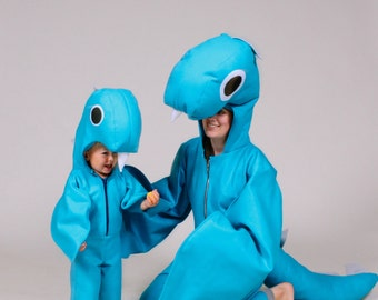 Loch Ness Monster Family Nessie Halloween Costumes For Mama (or Daddy) and Baby