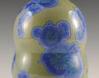 Blue Crystalline Pottery Vase