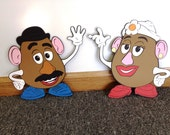 Toy Story Birthday Mr and Mrs Potato Head Stand Up set- standee Party Prop - Toy Story Decor