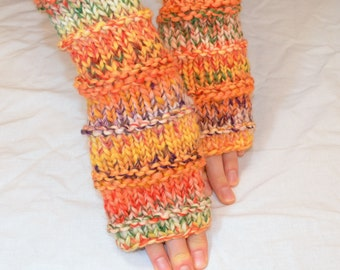 Fingerless Gloves (Wrist Warmers, Fingerless Mittens, Fingerless Mitts) - Colorful Coutryside