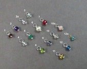 Add on, Birthstone Charm, Luxe AAA Genuine Gemstone, Tiny Charm, Add On Jewelry, Custom Jewelry, small charm, gifts under 10, birthday gift,