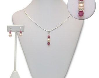 Theresa Flower Girl & Junior Bridesmaid Jewelry Set in Swarovski Colors